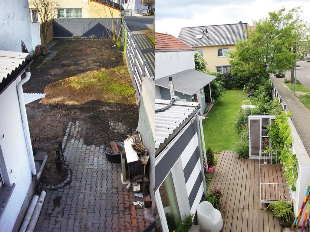 Komplettgestaltung: Aus dem tristen Garten wurde ein grünes Plätzchen zum Wohlfühlen