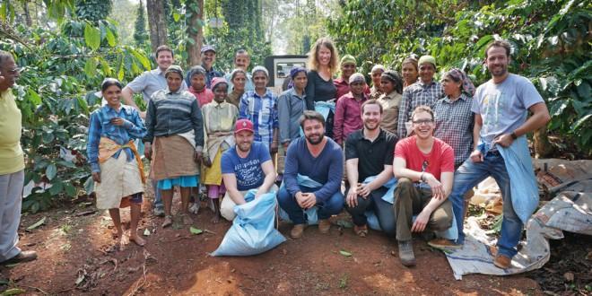 Sven Herzog und Jochen besuchten in Karnataka (Indien) eine Kaffeefarm.