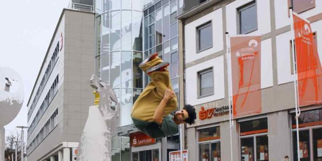 Parkour-Sportlers Gabriel Calina