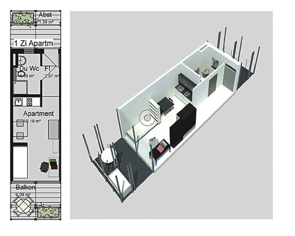 Einzel Apartment