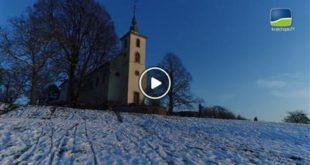 Untergrombach | Der Kraichgau von oben: Schnee auf dem Michaelsberg