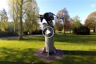 Angelbachtal | Kunst trifft Wirtschaft - Bildhauer weiht Kunstwerk ein