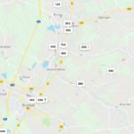 Landkarte Air BnB Zimmer in der Region