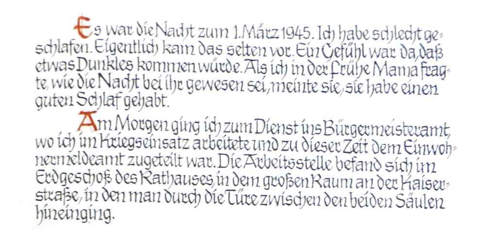Einleitung | der 1. März 1945
