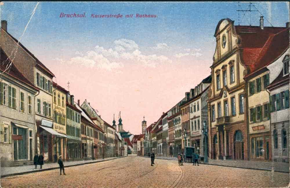 Rathaus und Kaiserstraße Bruchsal