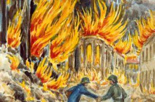 Marieluise Schneider | Bild vom Bombenangriff auf BRuchsal