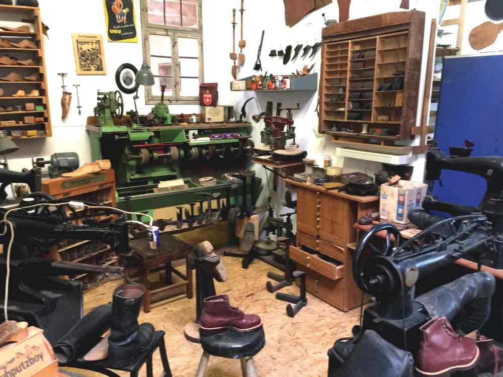 Oldtimer Museum Knittlingen, Walter Pfizenmeier, Schuster, Schusterwerkstatt