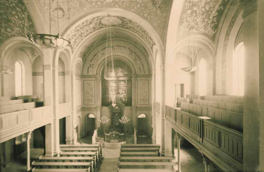 verzierte Wände und Decken | Synagoge Bruchsal
