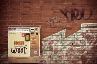 Zigarettenautomat, Automat, Wand, Graffiti
