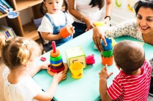 Erzieherin Kindergarten Kids Vorschule Spiel