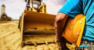 Bauarbeiter Baggerfahrer Erdbau Radlader Bauunternehmen