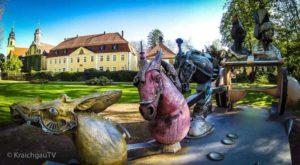 Angelbachtal-Schlosspark-Juergen-Goertz-Kunstwerk-Streitwagen