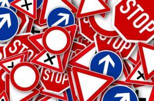 Verkehrschaos Verkehr Schilder Bretten