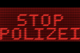 Stop-Polizei LED-Leuchtschrift