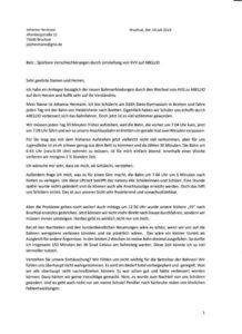 Leserbrief Abellio Linie 17