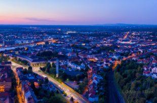 Panorama Bruchsal in der Abenddämmerung - Bild der Woche