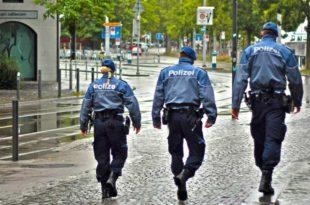 Polizei Stadt Beamten Streife