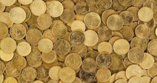 Geld Euro Cent reich gold