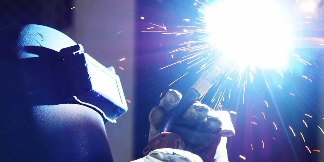 Schweißen Funken Stahl Handwerk