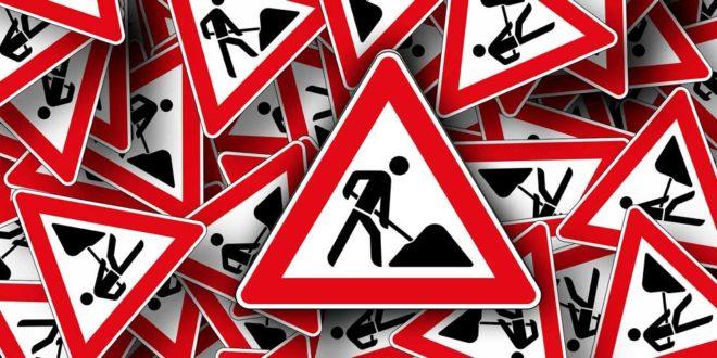 Baustelle Verkehrszeichen Bauarbeiten