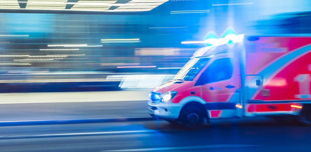 Notarzt, Krankenwagen, Blaulicht