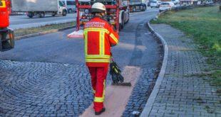 A5, Umwelteinsatz, Unfall, Feuerwehr