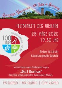 Festbankett 100 Jahre Vereinsleben Sulzfeld