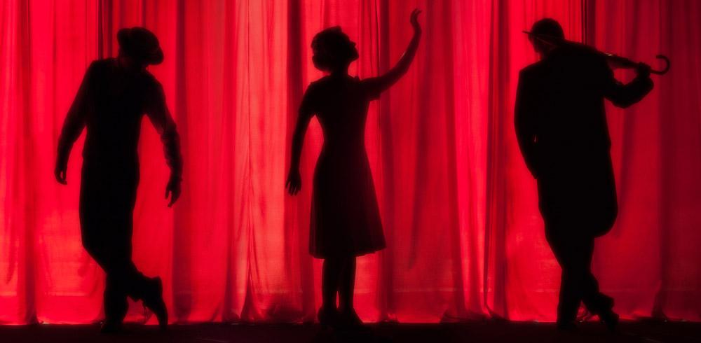 Theater, Bühne, Aufführung, Silhouette