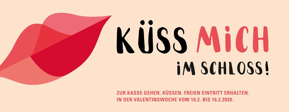 Schloss Bruchsal Küss mich! im Schloss Valentinsaktion