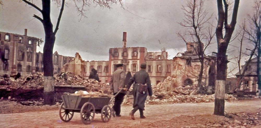 bruchsal, bomben, zerstört, historisch, innenstadt