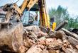 Abriss Bau Bauarbeiten Bagger Schutt Bauen Renovieren