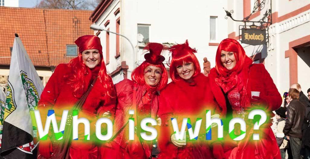 Who is who beim Fasnachtsumzug Brusl