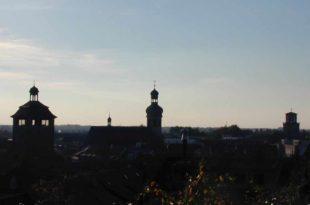 Bruchsal 3 Türme Kirchen Silhouette