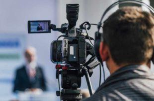 Kamera-TV-Livestream Pressekonferenz