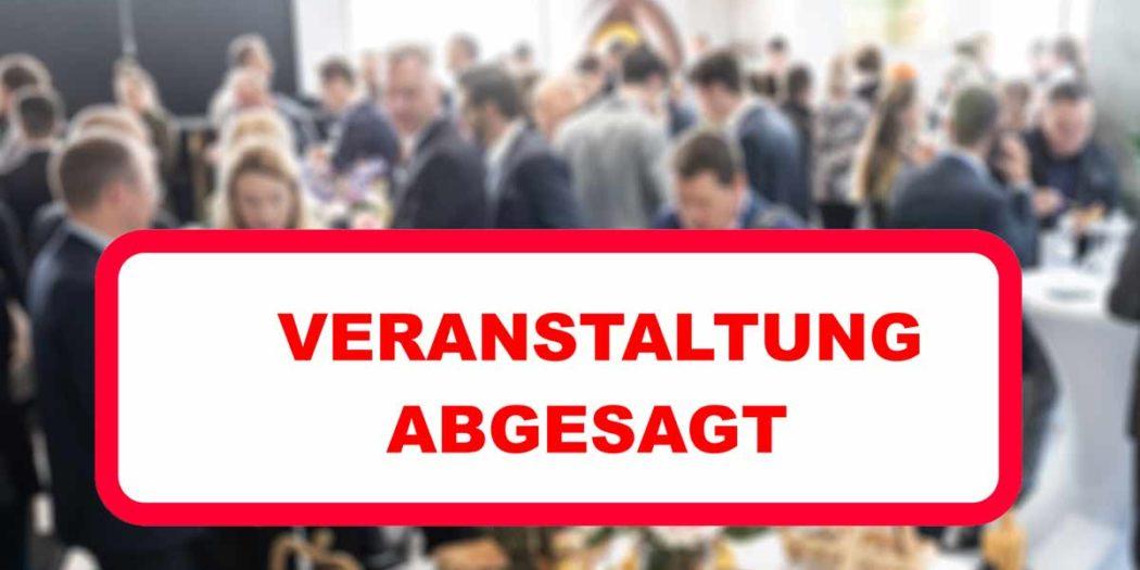 Veranstaltung abgesagt