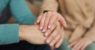 Zusammen Trost Vertrauen Hände