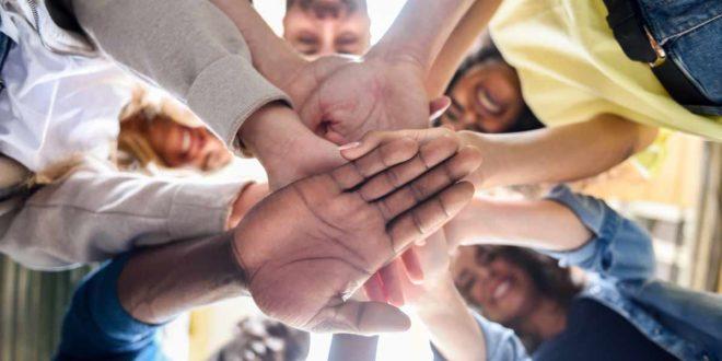 Hände Zusammenhalt gemeinsam