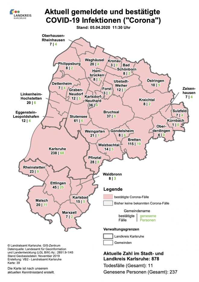Corona Fälle Landkreis Rastatt