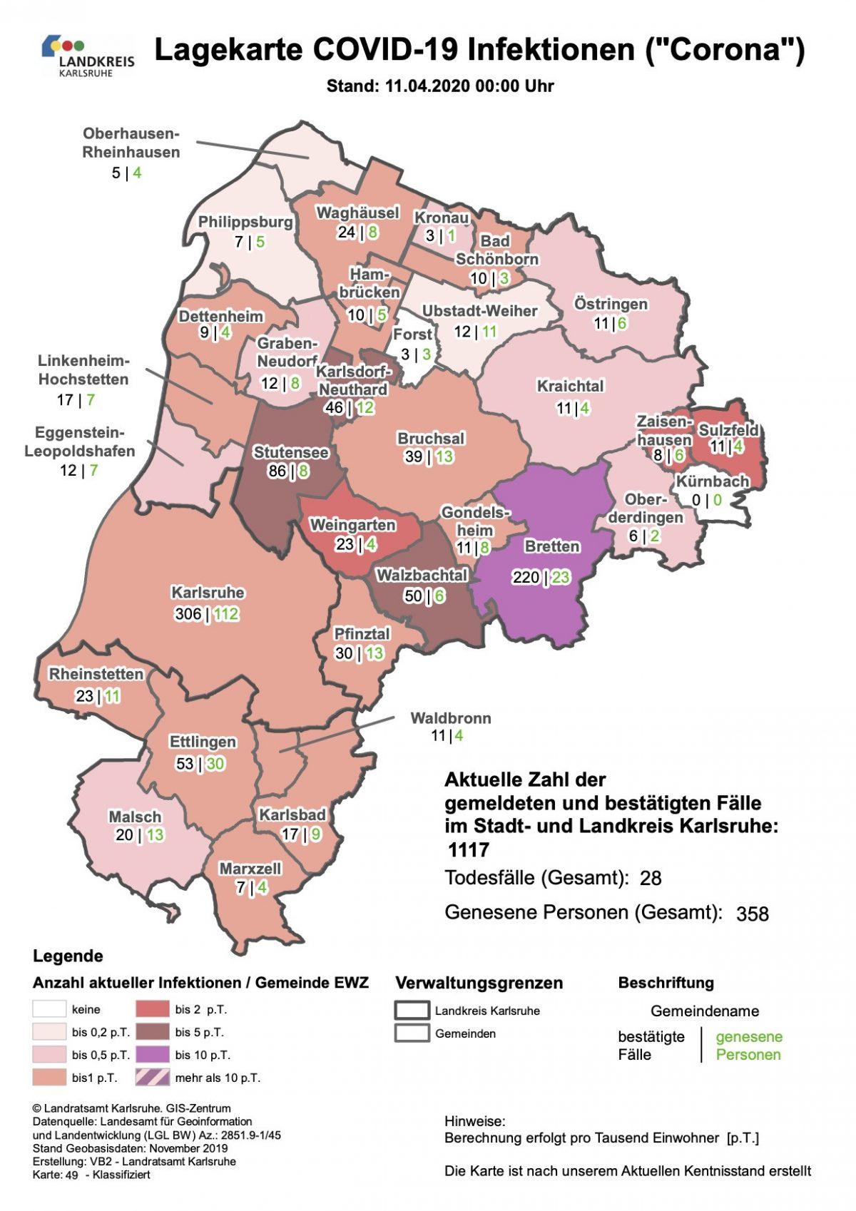 Corona Karlsruhe Fallzahlen