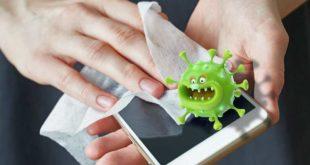 Handy Oberfläche von Viren Bakterien reinigen