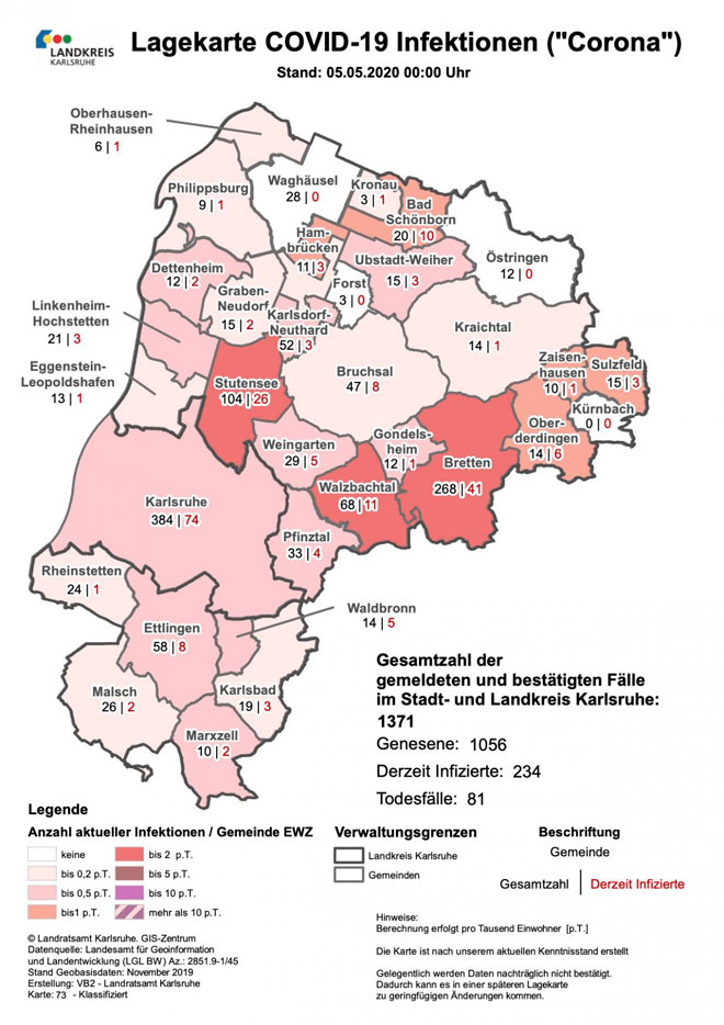 Landkreis Karlsruhe Corona Aktuelle Fallzahlen