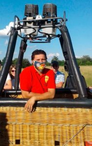 Michael Kampmann Ballonfahren mit Maske