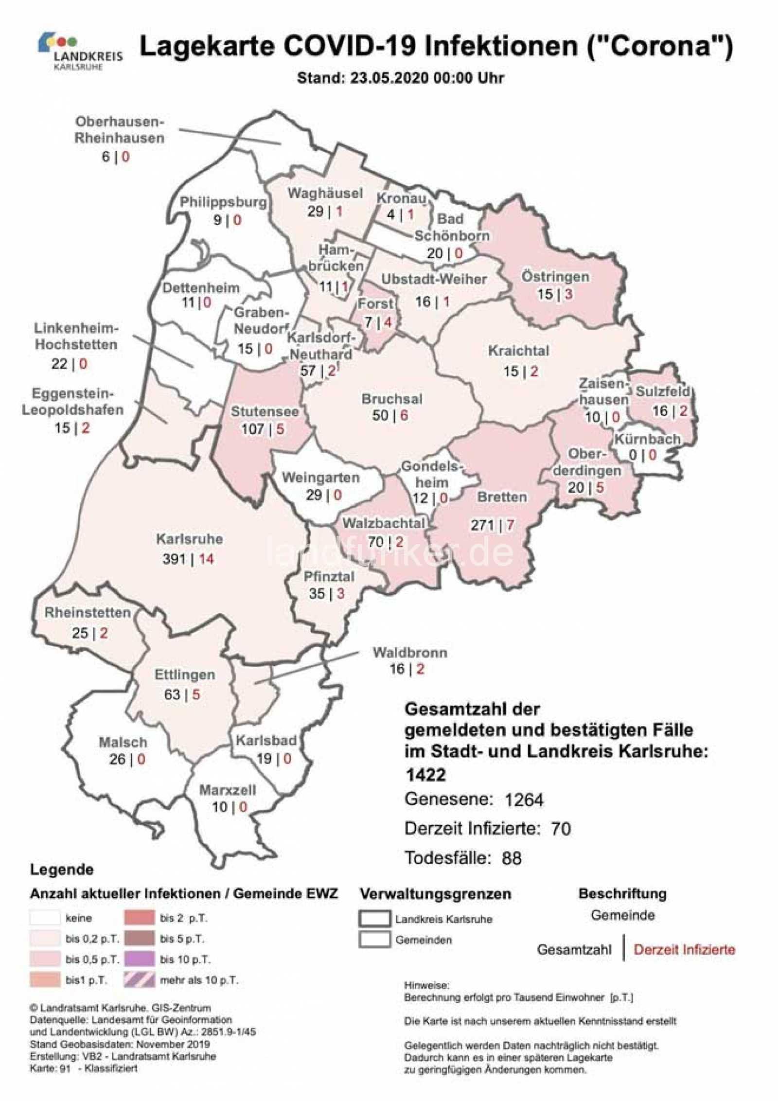 Corona Landkreis Karlsruhe