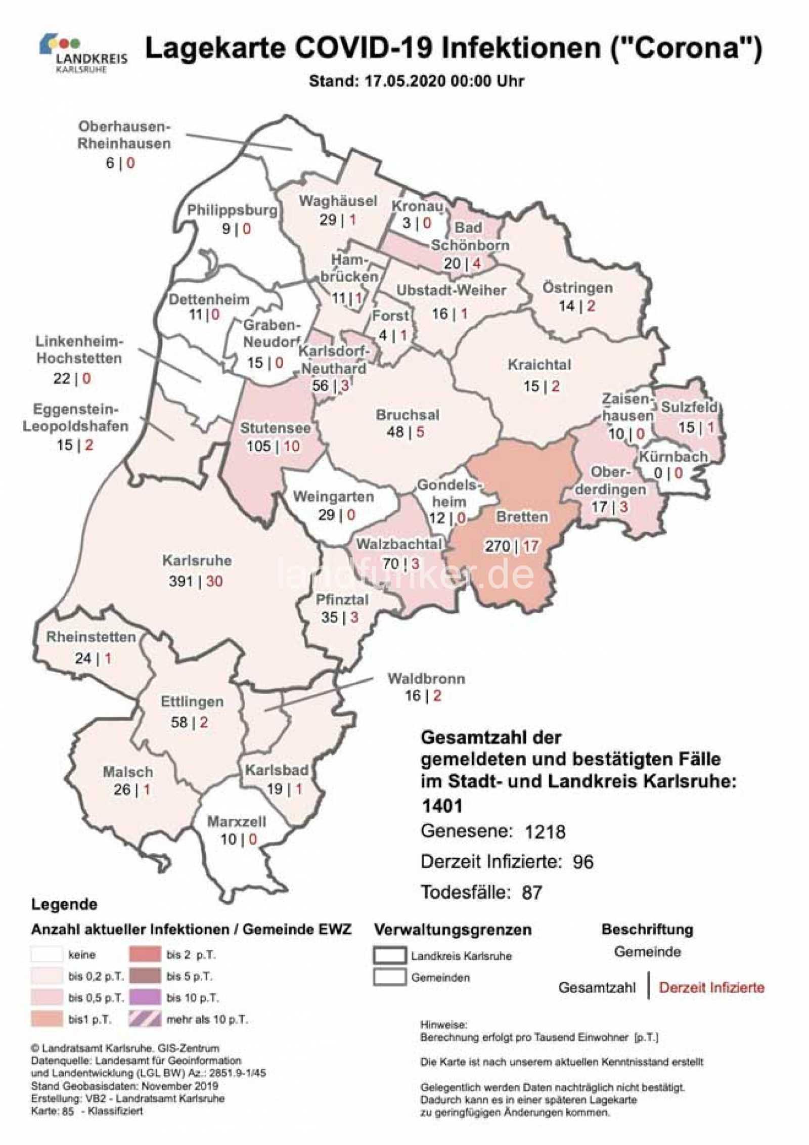 Corona Zahlen Landkreis Karlsruhe